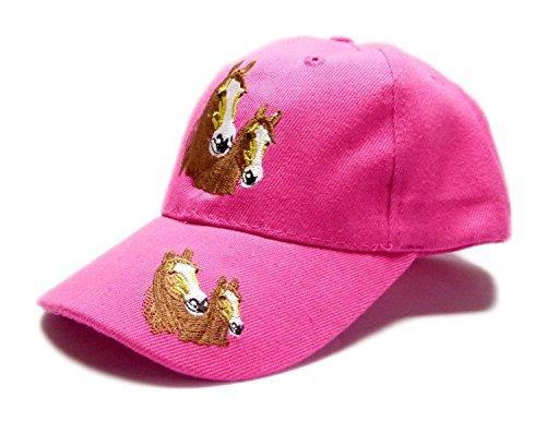 Kinder Caps viele Farben 1749 Pferde Cappy Retro Mütze 100% Baumwolle (rosa)