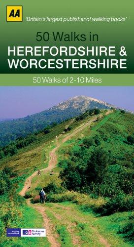 50 Walks in Herefordshire Worcest (AA 50 Walks Series)
