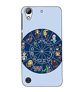 Fuson Designer Back Case Cover for HTC Desire 530 (Rashichakra Future Cycle)