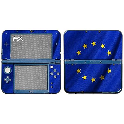 atFoliX Designfolie kompatibel mit Nintendo New 3DS XL Europäische Union Flagge Skin Aufkleber