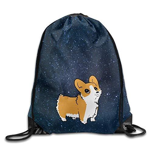 Etryrt Prämie Turnbeutel/Sportbeutel, Pembroke Welsh Corgi Dogs Men's and Wome's Sport Gym Sack Drawstring Backpack Bag