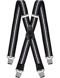 Tirantes Hombre X-Forma Elásticos Ancho 40 mm con clips extra fuerte  totalmente adjustable todos 533b5a343f55