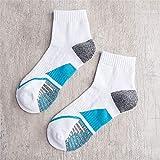 WXMDDN Basketball Socken 10 Paare/Herren Socken/Rohr Outdoor-Handtuch Boden Sportsocken/Sport Socken/Freizeit Sport im Freien warm,weiß See blau 10 Paare