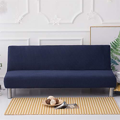 Liveinu Sofabett Sofaüberwurf Schutzhülle Sofa-Schonbezug Stretch Elastischer Stoff Sofabet Strechhusse Armlos Schutzhülle für Sofabett Sofaüberwurf 160-190cm Tiefes Blau