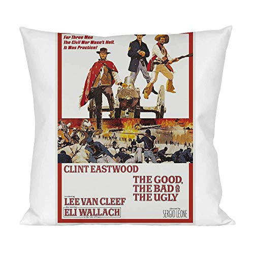 Movie Stars Merchandise The Good, The Bad and The Ugly Pillow Cushion Extra Soft Polyester for Bed Home Furniture by