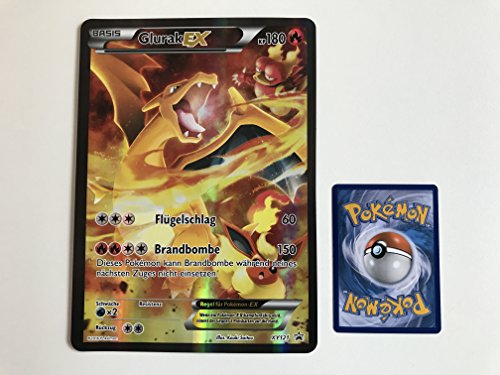 übergroße holografische Karte Glurak EX XY121 180KP (Neue Pokemon Karten Ex Mega)