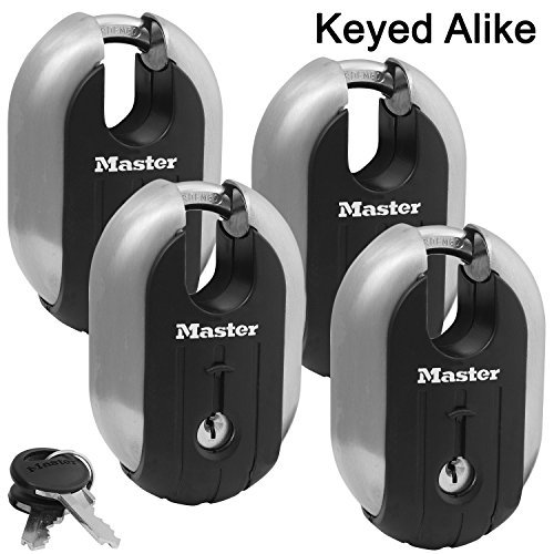 Master Lock - (3) Titanium Trailer Door/Multi Purpose Padlocks 2-1/4