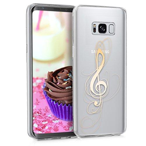 kwmobile Samsung Galaxy S8 Hülle - Handyhülle für Samsung Galaxy S8 - Handy Case in Gold Transparent