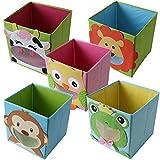 TE-Trend Faltbox Spielbox Tiermotiv Affe Aufbewahrung Spielzeug Spielzimmer Test