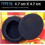 coussinets d'écouteurs de rechange pour casque KOSS Portapro Compatible, Sennheiser PX40, Audio-Technica, Sony, etc.(Emballé 2 paire (4 pièces)) Type 19