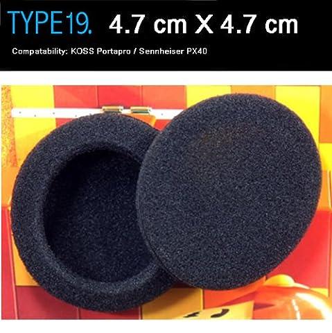 coussinets d'écouteurs de rechange pour casque KOSS Portapro Compatible, Sennheiser PX40, Audio-Technica, Sony, etc.(Emballé 2 paire (4 pièces)) Type 19 by LHOIZ