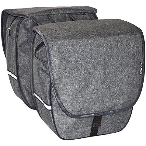 Patrón de Bags Heart Double–Bolsa Blanked portaequipajes bicicleta Varios c, gris grafito