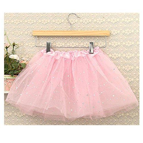 (Malloom® 78/5000 Mode Baby Kinder Mädchen Prinzessin Sterne Pailletten Party Dance Ballett Tutu Röcke (rosa))