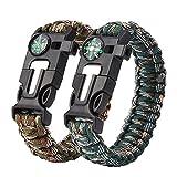 Leicht dieses Überleben Paracord ist im Stil Armband, das sorgt dafür, dass Sie es tragen. Einfach Folie an- oder ausziehen. Ein Must-Carry On Survival Gear, wenn Sie gehen Camping, Wandern, Angeln oder Jagen. Das Armband kann zerlegt werden wie Seil...