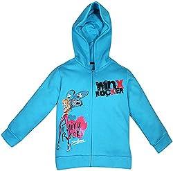 Winx Club Girls Animated / Cartoon Cotton Sweatshirt (Blue,4-5 Years)