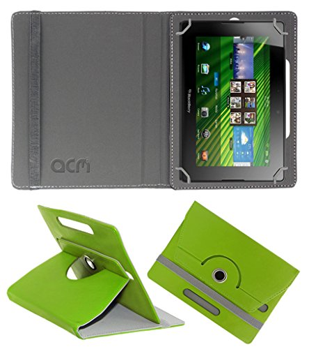 Acm Rotating 360° Leather Flip Case for Blackberry Playbook Cover Stand Green  available at amazon for Rs.149