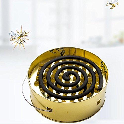 Gessppo _ Home and Kitchen Edelstahl Tablett Feuerfestes Mückenschutz Teller Einfach Tragbar gessppo