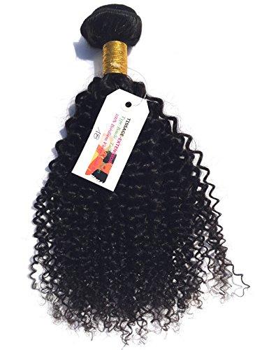 Tissage-extension - Tissage Brésilien Bouclé 100% vierge Noir naturel Grade 8A+ - 20 pouces