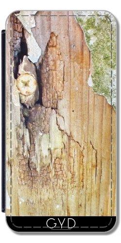 Leder Flip Case Tasche Hülle für Apple iPhone 6/6S - Altes Holz by Marina Kuchenbecker Lederoptik