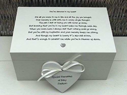 bby Chic ~ Memory Box ~ Große Andenken in Memory of a Kind ~ Baby ~ Verlust von Baby/Kind Sohn ~ Tochter ~ jeden Namen Verlust Trauer ()