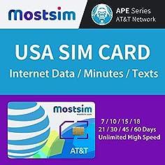 MOSTSIM AT T USA SIM Karte...