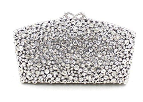 Damen Abendtasche Kristall-Diamant-Diamant-Mappe Brauttasche Handtasche Bankett fan color 5