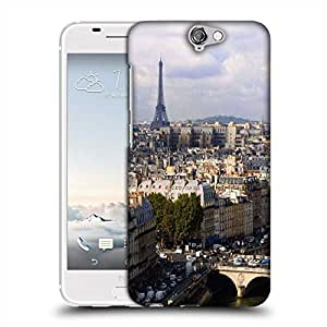 Snoogg Paris Designer Protective Phone Back Case Cover For HTC one A9