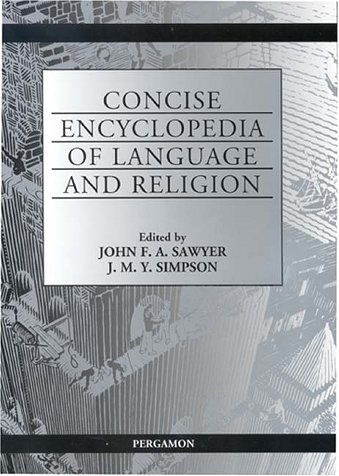 Concise Encyclopedia of Language and Religion (2001-05-22) par unknown author