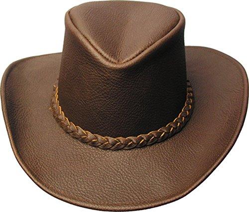 Kakadu Traders Australia Western | Cowboy Lederhut- Blackwell mit formbarer Krempe und hohem Hutblock -