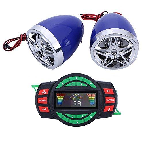 YouN Sistema de audio Bluetooth para motocicleta Radio FM estéreo altavoz SD...