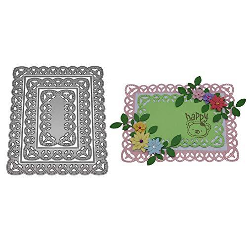 Lazzboy fustelle natale scrapbooking metallo stencil paper card craft per sizzix big shot/altre macchine(c, cornice di pizzo)