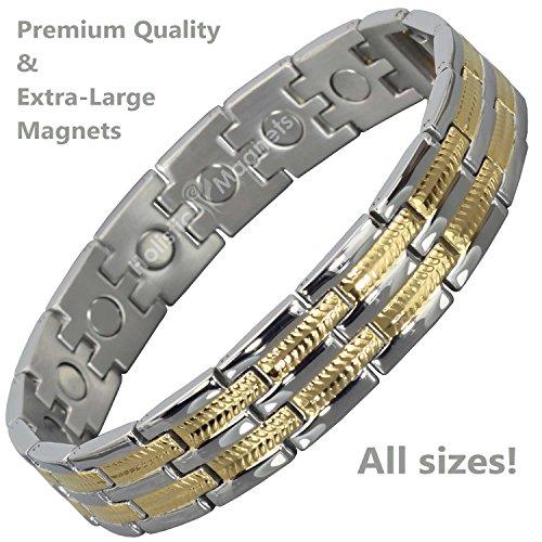 Healing Bracelet for Men ALL SIZES Magnetic Bracelet Men Birthday Gifts for...