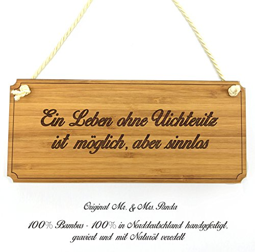 Mr. & Mrs. Panda Türschild Stadt Uichteritz Classic Schild - Gravur,Graviert Türschild,Tür Schild,Schild, Fan, Fanartikel, Souvenir, Andenken, Fanclub, Stadt, Mitbringsel