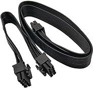 كومي أب بي سي اي 8 دبوس ذكر إلى ثنائي PCIe 2X 8 دبوس (6+2) كابل محول الطاقة الذكور لإمدادات الطاقة الموسمية 25