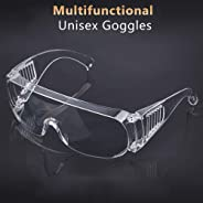 Goggles Lab Safety Protective Safety Glasses Clear Polycarbonate Visor Anti-Fog High Impact Resistance Nishore
