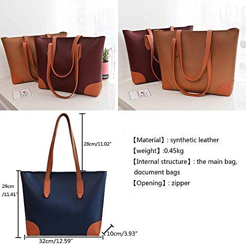 Anne Damen Handtasche, Taschen, legere Handtasche, großes Fassungsvermögen, Damen-Handtaschen D Flesh color