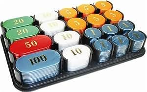 Madelcar - Boite avec 200 jetons de poker, 21x13,5x3 cm 02391MD