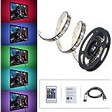 Tiras LED Iluminación 1m de VicTsing, 300 MP RGB Retroiluminado Multicolor Kit Con Mando a distancia y Cable de Alimentación USB para Decoración del Hogar.