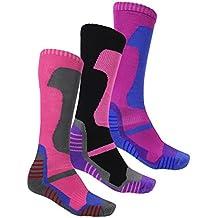 Location 3 pares de calcetines de invierno acolchados térmicos para esquí, senderismo, ciclismo