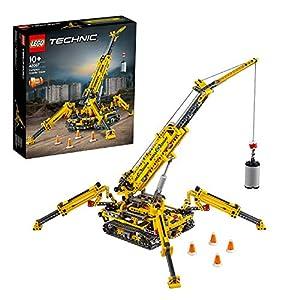 LEGO Technic Gru Cingolata Compatta, Ricostruibile a Torre Compatta, Set di Costruzioni 2in1, 42097 5702016369885 LEGO