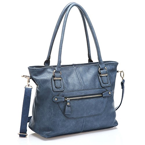 UTAKE Women Handbags Leather Handbags Shoulder Bag PU Leather Bags Tote Bag UT36 Blue