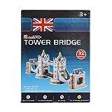 AsianHobbyCrafts Mini 3D Puzzle World's Greatest Architecture Series :Tower Bridge: Model Size –33cm x 8cm x 11cm