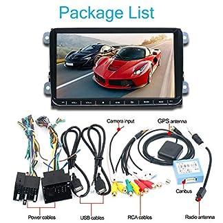 SHOH-9-Zoll-GPS-Navigation-1024-X-600-Auto-DVD-Radio-Integriertes-FM-Radio-4-X-45-W-Bluetooth-40-Untersttzung-Fr-Freisprechen-Multi-Touch-Untersttzung-Rckfahrkamera-Eingang