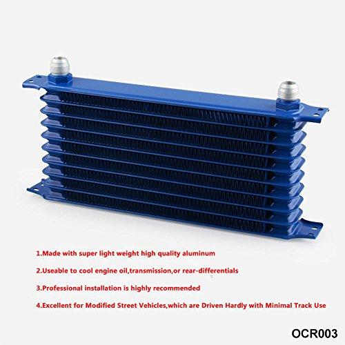 ritocco auto,gadget auto,kit auto,10Row AN10 Kit raffreddamento radiatore olio motore universale + kit di riposizionamento filt