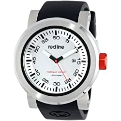red line Herren RL-50049-02S Torque Sport Silver Dial Black Silicone Band Armbanduhr