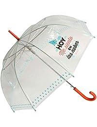 Mr Wonderful paraguas trans turquesa
