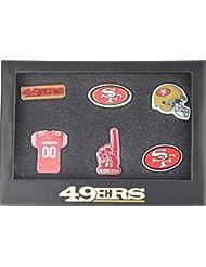 San Francisco 49ers 6Pinset dans boîte cadeau–NFL Football Supporter Boutique
