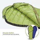 Mountaintop Schlafsack Daunenschlafsäcke Mumienschlafsack für Camping, Wandern, Outdooraktivitäten, 3/4 Jahreszeiten - 5
