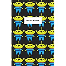 """Notebook: Cute Alien Toy Pattern - Beautiful Design: 5.5"""" x 8.5"""" lined pages. Great for note-taking/Composition/Writing/Planning/Diary/Gift"""