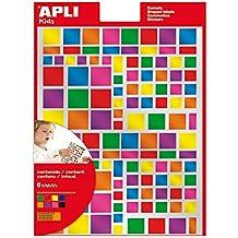 Gomets metalicos cuadrados colores surtidos permanentes 6hj apli 13530